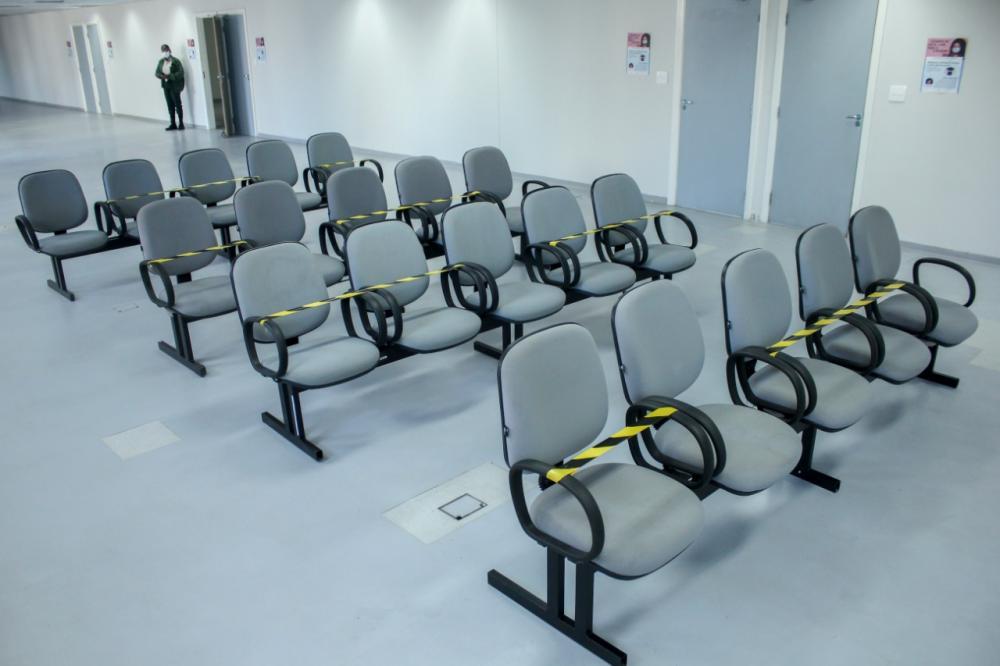 Sala de espera para advogados, partes e testemunhas respeitará normas de distanciamento social / Foto: Bruno Mirandella