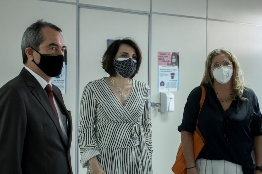 Jorge da Fonte, Rosane Catrib e Clarissa Costa / Foto: Bruno Mirandella
