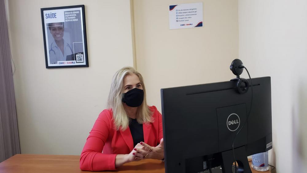 A advogada Isabel Belinha também participou da simulação de uma sala da Ordem / Foto: Bruno Mirandella