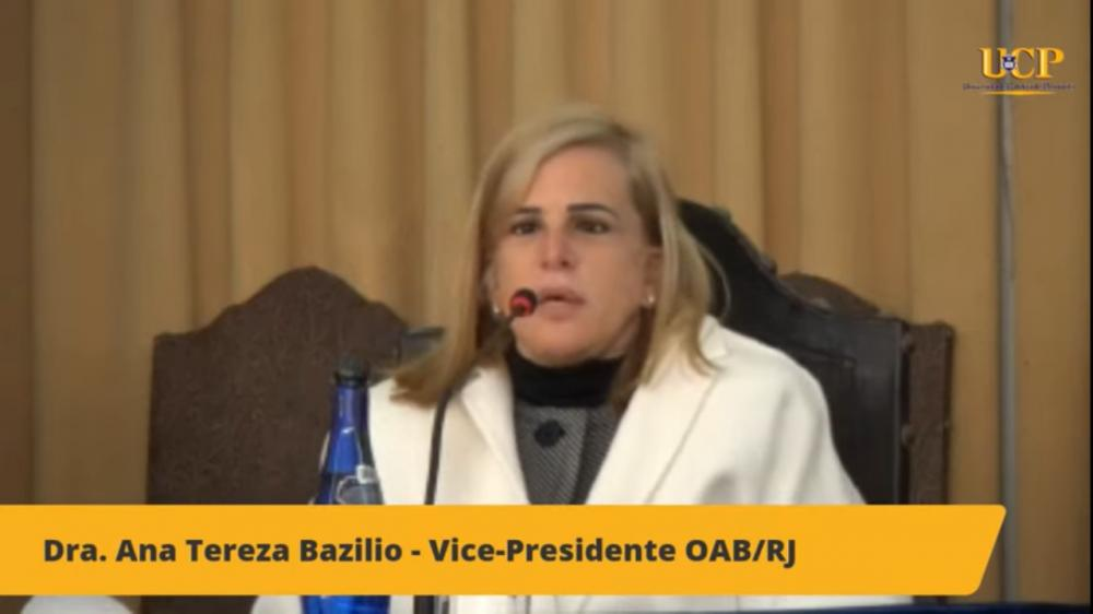 Ana Tereza Basilio /  Imagem: Transmissão canal OABRJ no YouTube