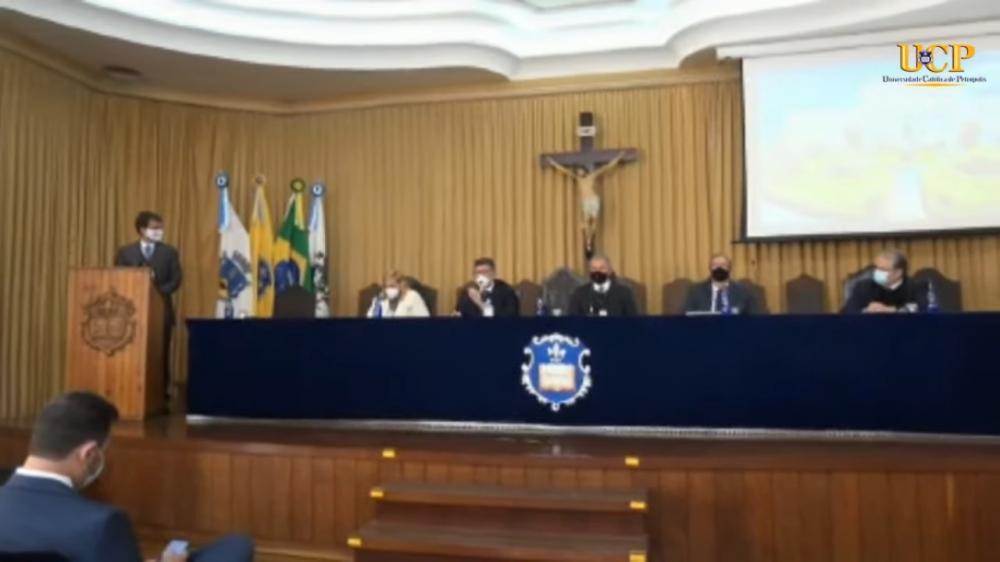 Presidente da Subseção de Petrópolis foi o mestre de cerimônias no evento / Foto: Eduardo Sarmento