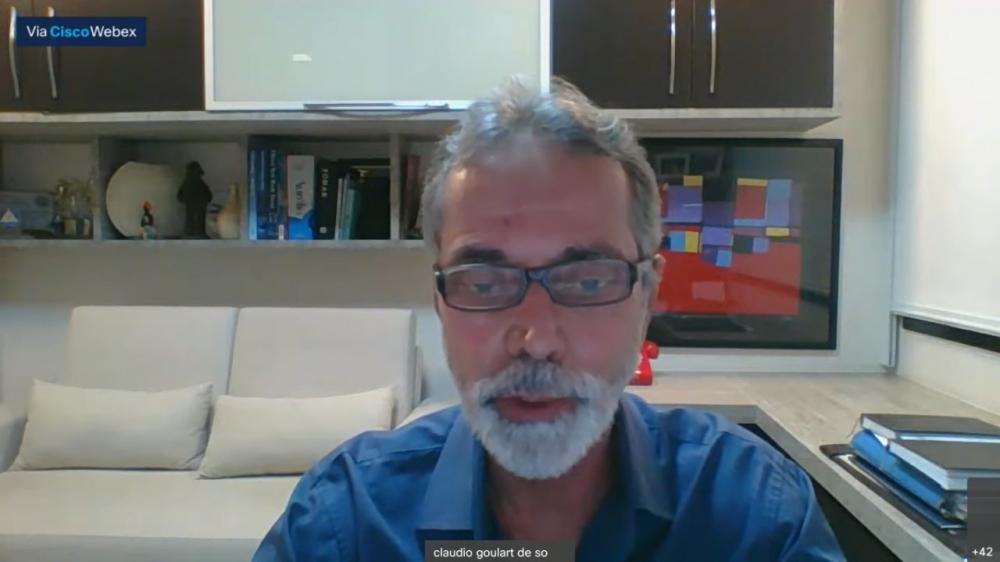 Claudio Goulart, presidente do Sindicado dos Advogados do Rio de Janeiro
