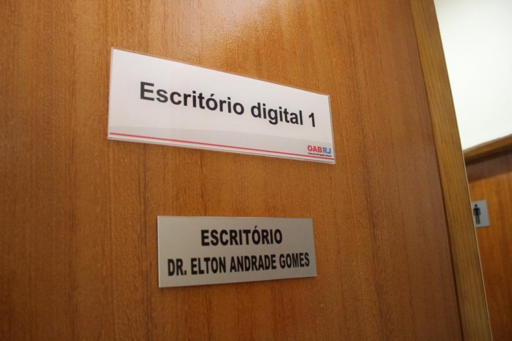 Escritório homenageia Elton Andrade Gomes, que presidia a Comissão de Celeridade Processual da subseção e foi vítima fatal da Covid-19 / Foto: Bruno Marins
