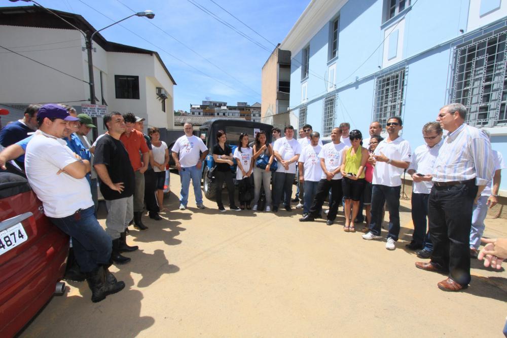 Reunião na sede da OAB/Friburgo com funcionários da Ordem e da Caarj / Foto: Lula Aparício