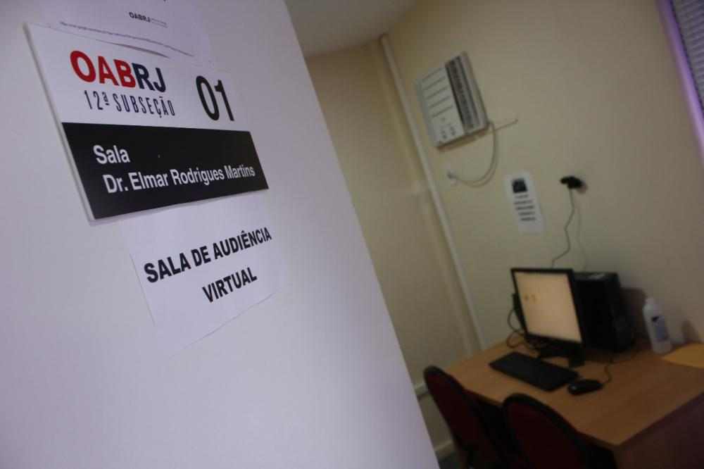 Ao todo, 19 salas preparadas para a advocacia receber seus clientes e participar de audiências virtuais / Foto: Bruno Mirandella