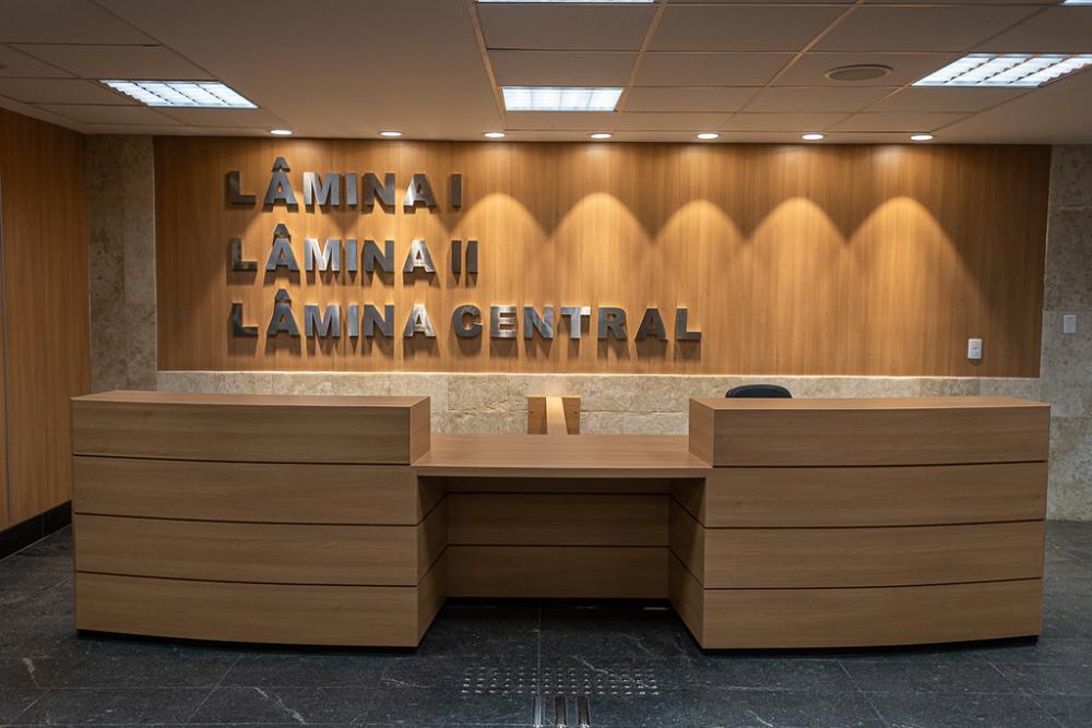 Hall reformado das Lâminas I, II e Central, no térreo do Fórum Central do TJRJ/ Foto: Brunno Dantas (TJRJ)