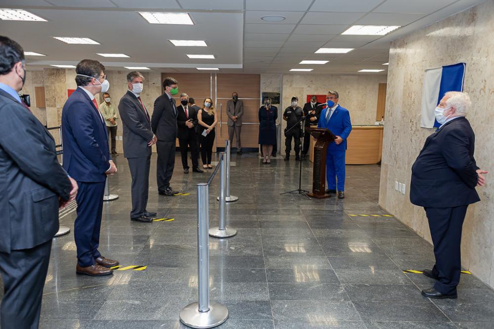 Solenidade de reinauguração seguiu os protocolos de segurança impostos para o controle da pandemia de Covid-19 / Foto: Brunno Dantas (TJRJ)