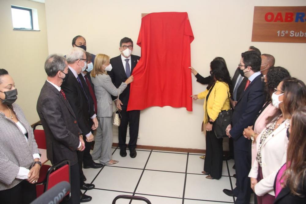 Diretorias da OABRJ, da subseção e da Caarj participaram da inauguração no local / Foto: Bruno Mirandella