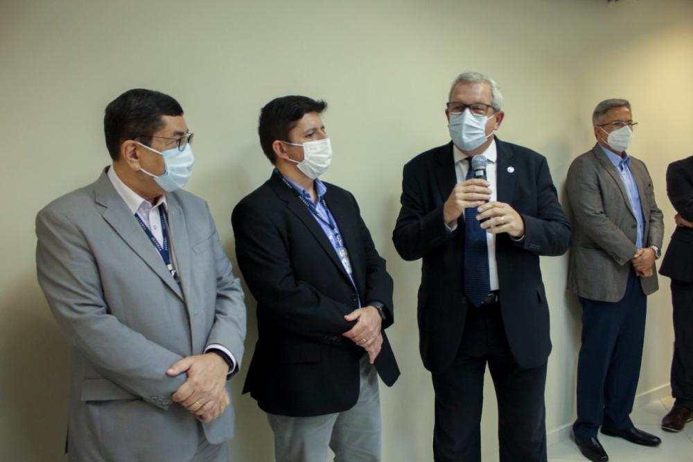 Presidente da Caarj, Ricardo Menezes também participou da inauguração / Foto: Bruno Mirandella