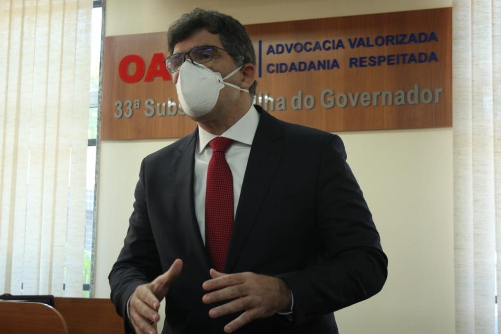 Luciano Bandeira reafirmou seu compromisso de levar à advocacia o que ela precisa para o seu exercício profissional / Foto: Bruno Marins