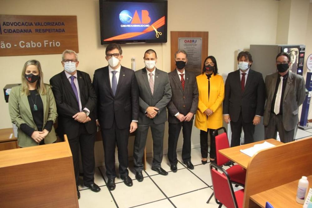 Diretorias da OABRJ, da Caarj e da subseção no Fórum de Cabo Frio / Foto: Bruno Mirandella