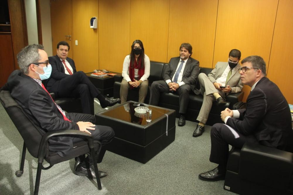 Rafael Borges também participou da reunião / Foto: Bruno Mirandella