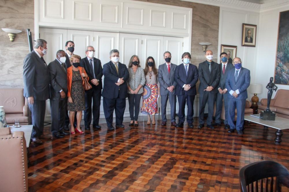 Reunião das diretorias da OABRJ e da subseção com a Presidência do TRT1 / Foto: Bruno Mirandella
