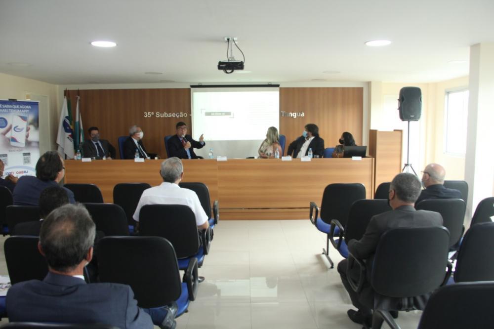 Presidente da OABRJ, Luciano Bandeira apresentou as principais propostas para o ano /  Foto: Bruno Marins