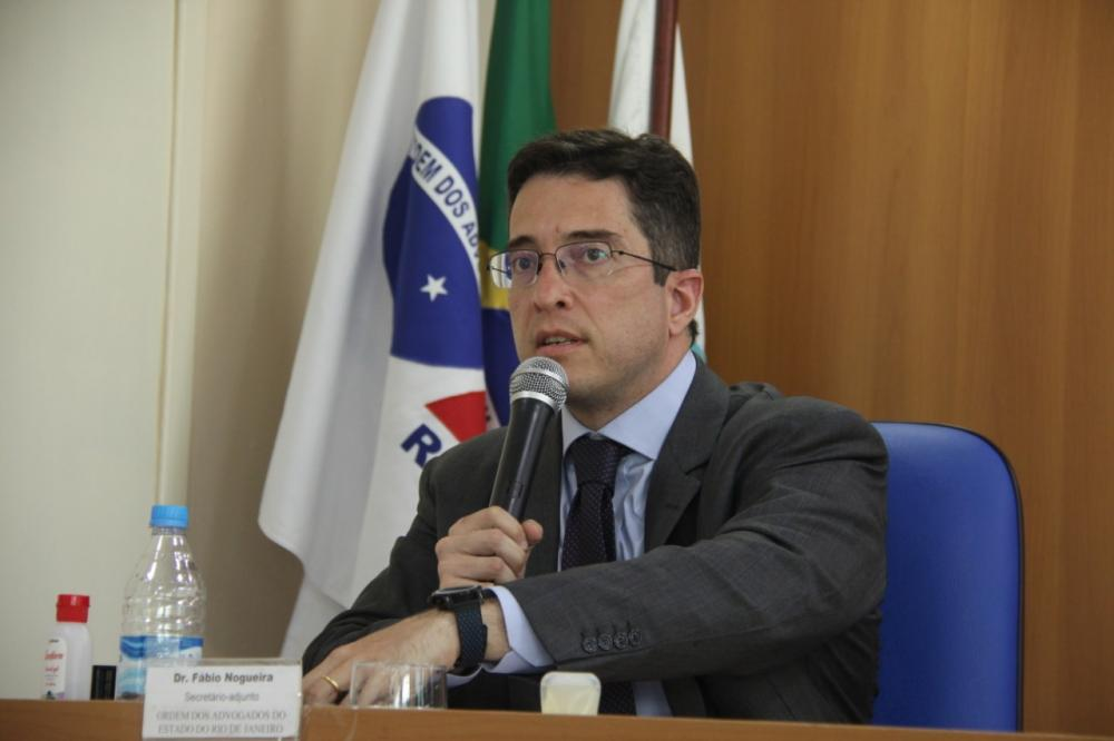 Secretário-adjunto da OABRJ e coordenador do Departamento de Apoio às Subseções, Fábio Nogueira / Foto: Bruno Marins